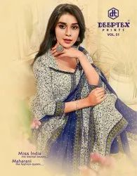 Deeptex Miss India Cotton Dress Material