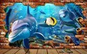 3D Customised Fish Wallpaper