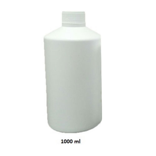 White HDPE 1000ml Mono Shaped bottle, Screw Cap
