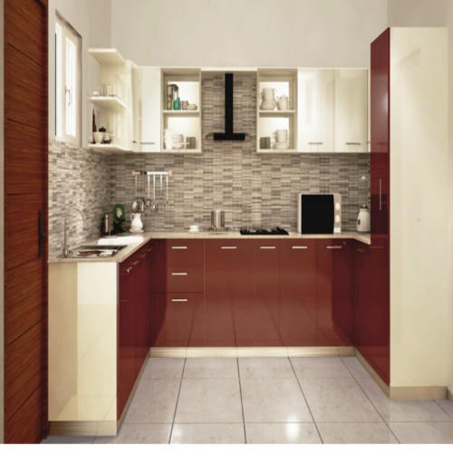 Brown And Beige Interior Modular Kitchen, Rs 1050 /square