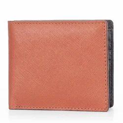 Saffianio Tan Leather Wallet