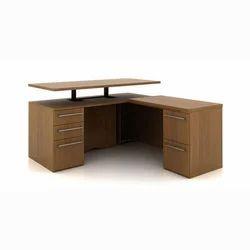 Wooden L Shape Office Work Table