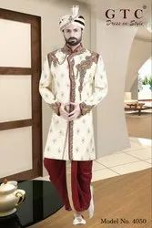Maroon Embroidered Exclusive and Designer Sherwani