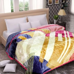 Printed Double Designer Woolen Blanket, Size: 230x255 cm