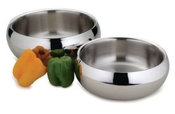 Stainless Steel Bowl - Polished Mirror Nesting Metal Bowl for Cooking and Serving Corporate Gifts