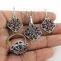 Antique Silver Necklace Set
