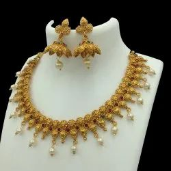 Antique Gold Plated Jewellery Set - D 5031 ANT