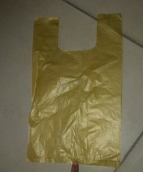 Yellow Plastic Carry Bag