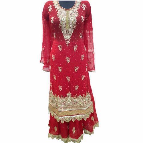 5fcce27afa Designer Sharara Dress, शरारा - MK Textiles, Mumbai | ID ...
