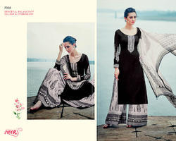 Black Color Straight Designer Salwar Suit