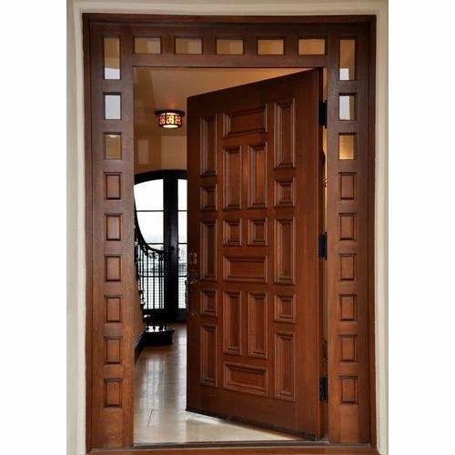 Wooden door wooden doors sc 1 st indiamart for Decorative main door designs
