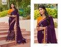 Purple Elegant Designer Saree
