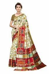 Party Wear Printed Art Silk Sarees