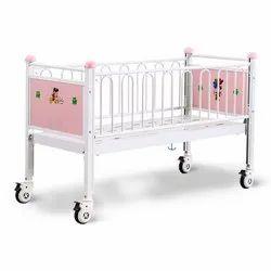 Hospital Baby Bed, Polished, Mild Steel