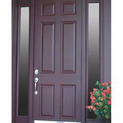 Dark Brown Wooden PVC Door