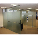 Transparent Frameless Glass Partition
