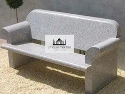 Granite Bench With Arm Rest