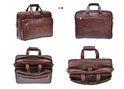 NDM Leather Portfolio Bag- Brown
