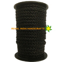 Matt Black Flat Braided Leather Cord
