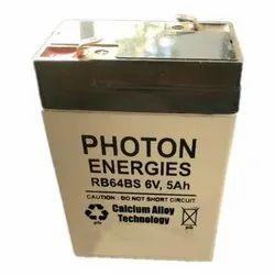 Photon Energies 6V5Ah SMF VRLA Batteries, RB64BS
