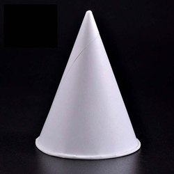 White Plain Ice Cream Cone Paper Cup, Capacity: 150 ML