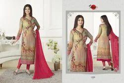 Printed Full Sleeve Silky Salwar Suit