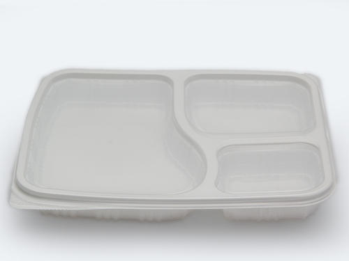 3 Compartment Disposable Meal Tray With Lid & 3 Compartment Disposable Meal Tray With Lid Disposable Bhojan Thali ...