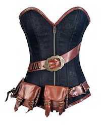 Brocade Leather Corset