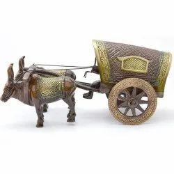 Brass Bull Cart