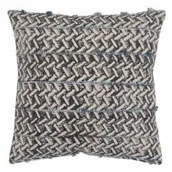Embroidered Zig Zag Design Cotton Cushion Cover