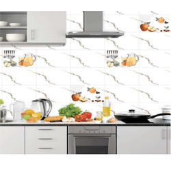 White Porcelain Kitchen Tiles, Thickness: 6 - 8 Mm