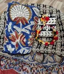 Cotton With Kota Doria Suits Set