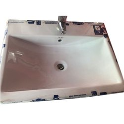 White Wall Mounted Ceramic Wash Basin