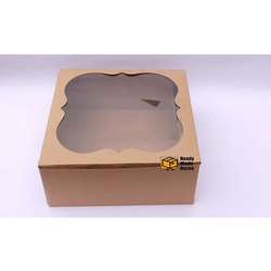 10 Inches Brown Window Cake Box