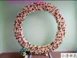 Round White Decorative Artificial Flowers Ring, For Event Decorations