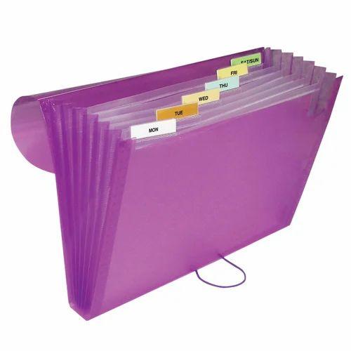 Purple Multi Pocket File Folder, Rs 180 /piece, Shreeji