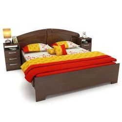 Black Latest Wooden Bed