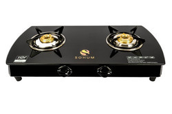SOHUM Black 2 Burner Glass Top Stove