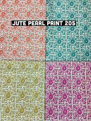 Jute Pearl Print Fabric