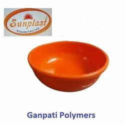 Round Orange Plastic Ghamela