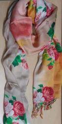 Pure Silk Digital Printed Neck Scarf - Shawl