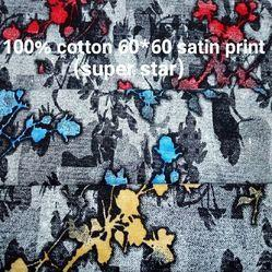 Satin Print Shirting Fabric (Super star)