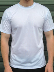 White Polyester T Shirt