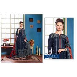 Blue Casual Wear And Party Wear Ladies Designer Suit