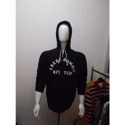 mens hooded black t shirt