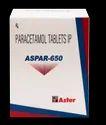 Paracetamol 650 mg Tab ( Aspar-650 Tablets)