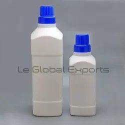 HDPE White Liquid Detergent Plastic Bottle, Capacity: 500ml 1000ml, Screw Cap