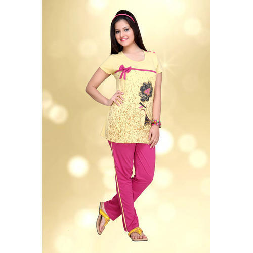 Ladies Full Length Printed Night Suit bbac83c0f