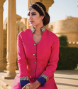 Pink Raw Silk Party Wear Suit Divaa101