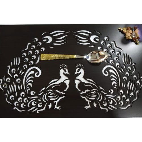 Laser Cut Wooden Dining Table Mats Packaging Type Box